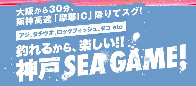 大阪から30分、阪神高速「摩耶IC」降りてスグ!青物、サワラ、タチウオ、ロックフィッシュ、etc 釣れるから楽しい!神戸SEA GAME!